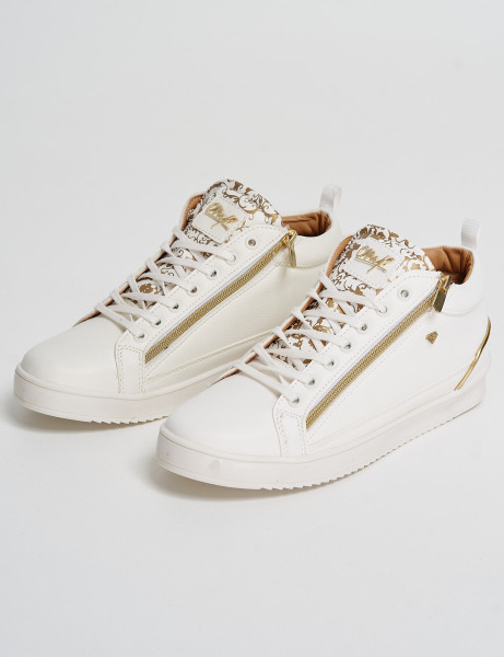 Cash Money Trainers CMS-98 White Gold