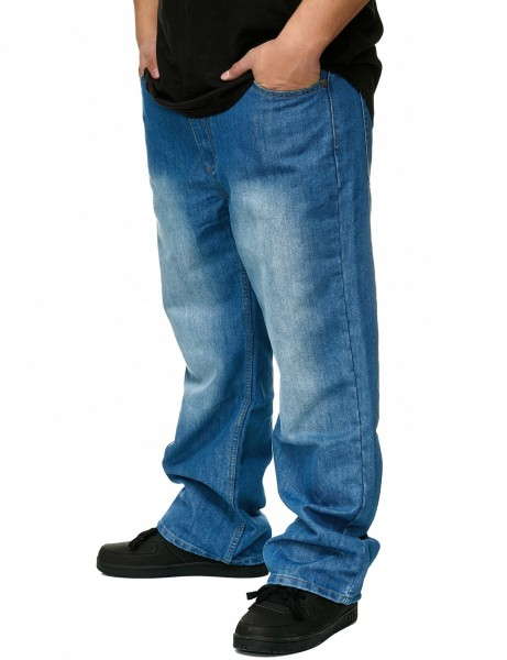 YLD Baggy Fit Jeans YLD305D Light Indigo