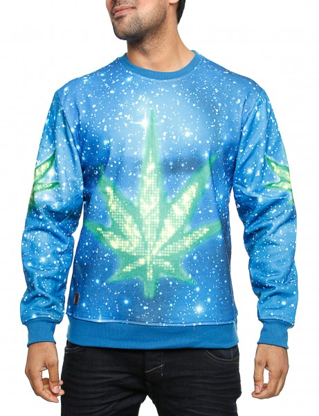 Imperious Marijuana Galaxy Sweatshirt CS563 Blue