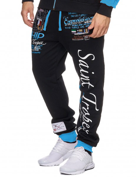 Violento Sweatpant 533 Black Blue