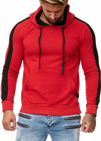 Redox Mens Hoodies Without Zip 1212C Red Red