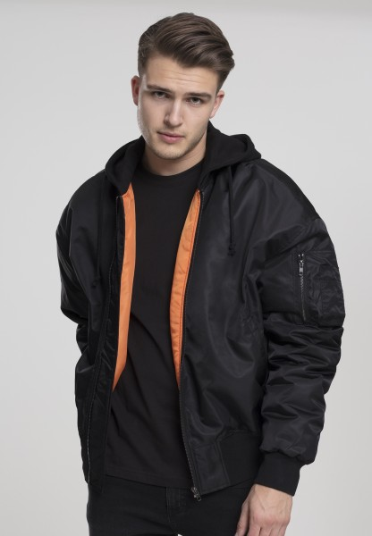 Urban Classics Herren Bomberjacke Hooded Oversized in