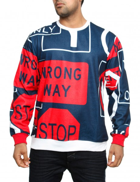 Imperious Road Sign Sweatshirt CS526 Navy