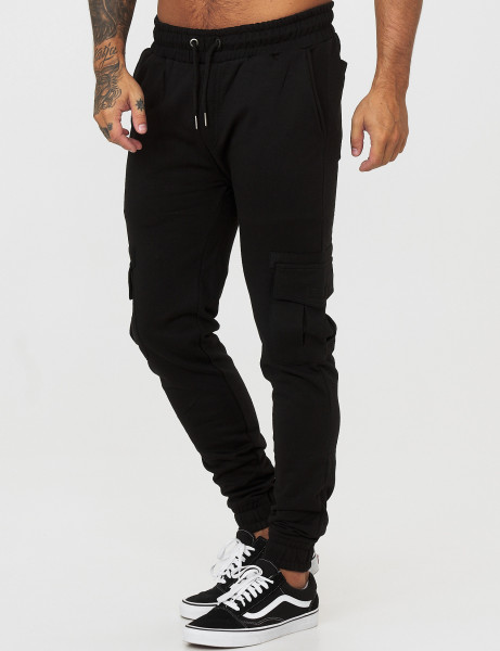 Soul Star MP Screw Driver Mens Fleece Cargo Pant Black