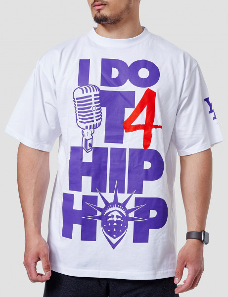 YLD-I DO IT 4 HIPHOP-TEE White Purple Red
