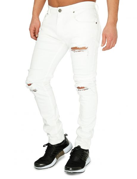 Soul Star MP Deo Skinny Fit Jeans White
