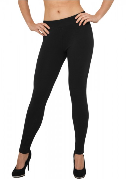 Urban Classics Ladies Jersey Leggings TB605 Black
