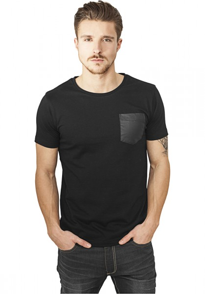 Urban Classics Leather Imitation Pocket Tee TB970 Black