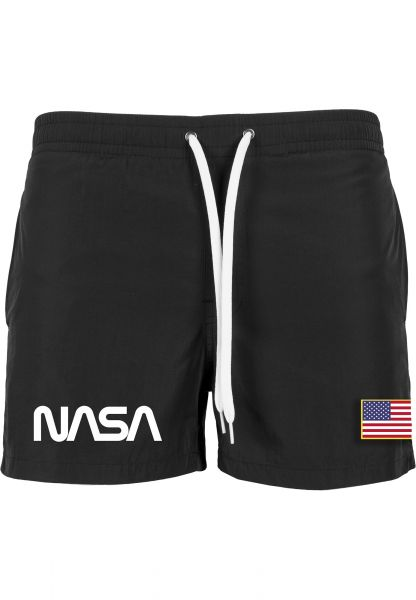 NASA Worm Logo Swim Shorts MT1162-00007 Black