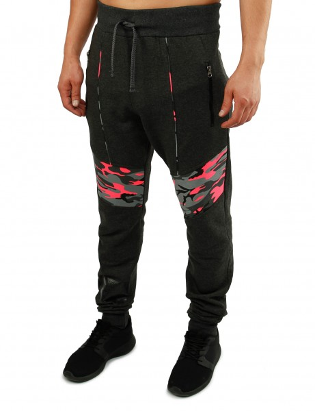 Violento Sweatpants 626 Charcoal Camo Pink