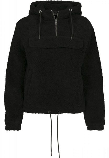 Urban Ladies Sherpa Pull Over Hoody TB2448-00007 Black