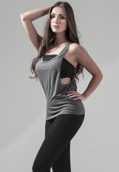 WOMENS Basic Ladies Loose Tank charcoal BY020-20091