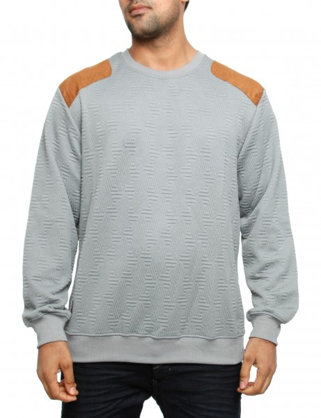 Imperious Quilted Sweatshirt CS542 Grey