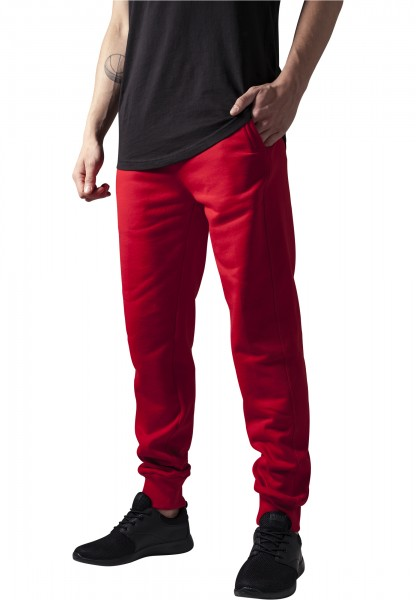 Urban Classics Herren Hosen Straight Fit Sweatpants red Trainingshose Jogger