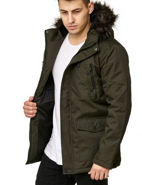 Soul Star MJ-Plum Fur Winter Jacket OLIVE