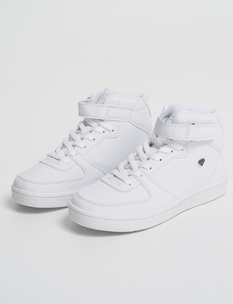 Cash Money Kids High Top Trainers CMS-33 White