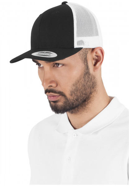 MENS Basic Retro Trucker 2-Tone blk/wht 6606T-20050