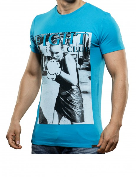 Fight Club T-Shirt Herren Oberteil T-Shirt 13-2035_Turquoise Hip hop Tee