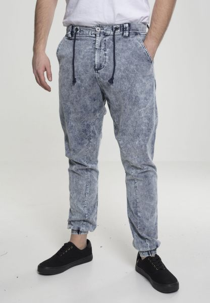 Urban Classics Acid Washed Corduroy Jog Pants TB2416-00438 Navy