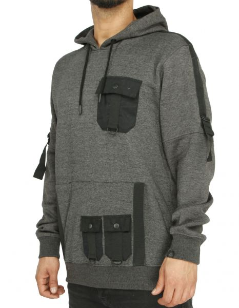 Soul Star MSW-Grilled Hoody Charcoal