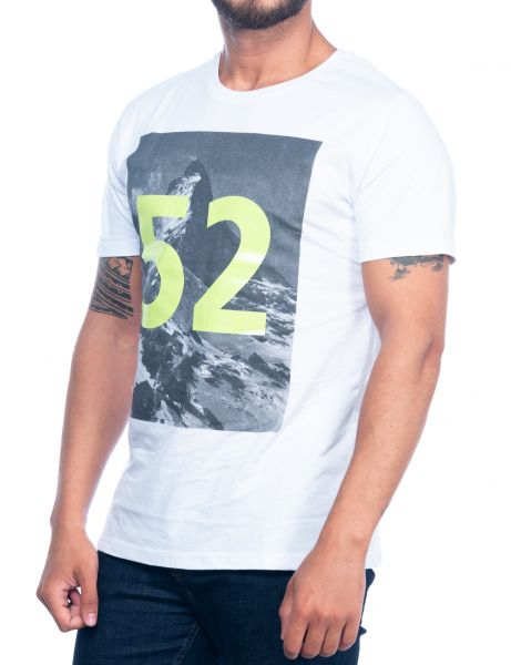 Catch men t-shirt Y-247 White LIME GREEN