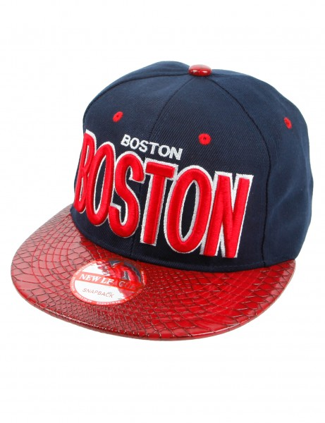 New League BOSTON PU Snapback Navy Red